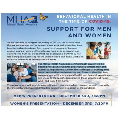 Financial and Behavioral Health in the Time of COVID-19 (Women's Presentation)