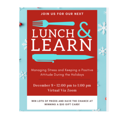 Oceans Family Success Center's Virtual Lunch & Learn: Managing Stress and Keeping a Positive Attitude During the Holidays